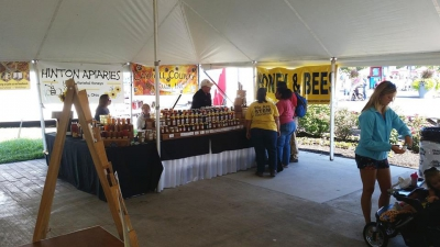 Honey sales at the state fair.