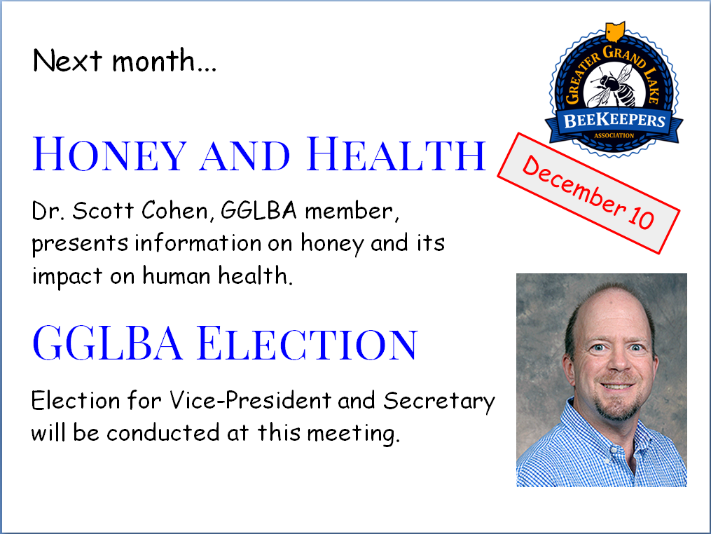 Next GGLBA Meeting Tuesday December 10th, 2019 7:00pm